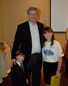 Amanda & Joshua with PM Harper copy